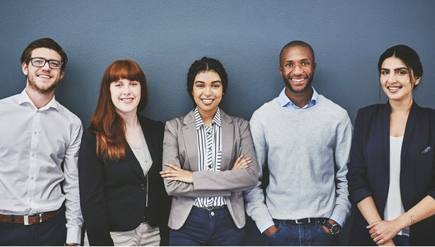 Group of young advisors