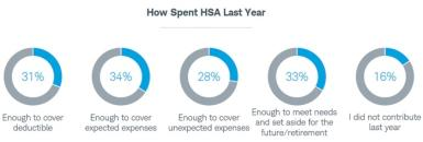 Graphic showing how people spent their HSA